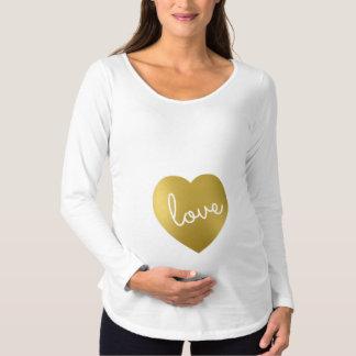 LOVE IS GOLDEN MATERNITY T-Shirt