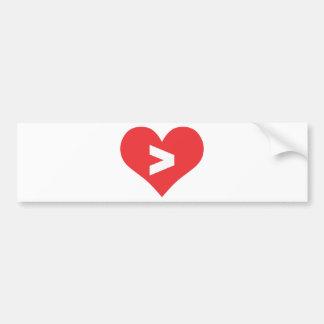 Love Is Greater Bumper Sticker