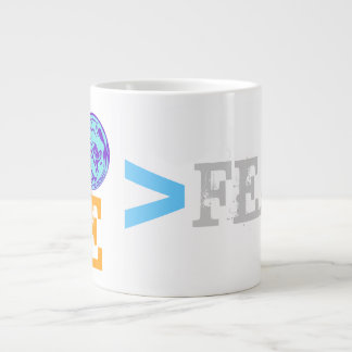 LOVE is greater than FEAR Large Coffee Mug