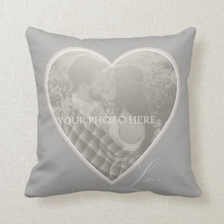 LOVE IS Heart Photo Pillow