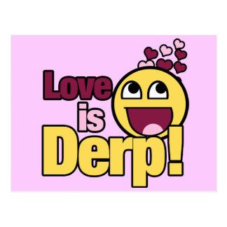Love is Herp Derp Postcards