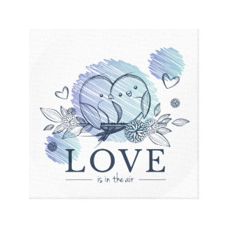 """""""Love Is In The Air"""" 12"""" x 12"""", 1.5"""", Single Canvas Print"""