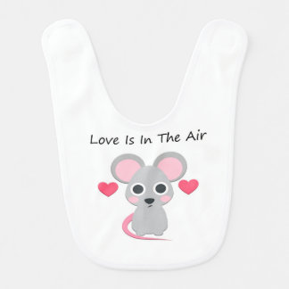 Love Is In The Air Baby Bib