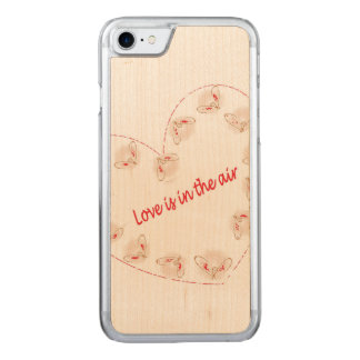 Love is in the air carved iPhone 8/7 case