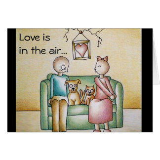Love is in the Air Funny Romance Card