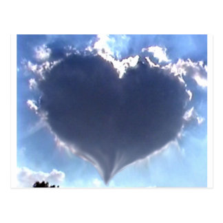 Love is in the Air: Heart Shaped Cloud: Wedding Postcard