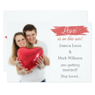 Love Is In The Air Photo Engagement Announcement