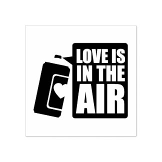 Love Is In The Air Rubber Stamp