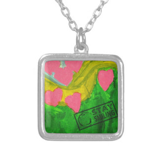 Love is in the air silver plated necklace