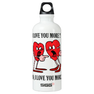 'Love is in the air'  Traveller (0.6L), White Water Bottle