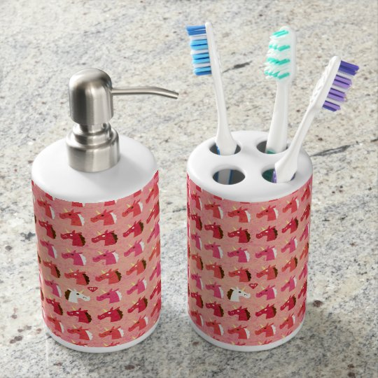 Love is in the Air Unicorn Soap Dispenser And Toothbrush Holder