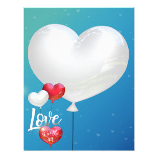 Love Is In The Air Valentine Balloons - Letterhead