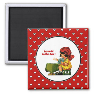 Love is in the Air. Valentine's Day Gift Magnets