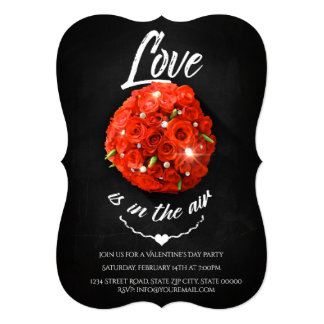 Love is in the air - Valentine's Day Party Card
