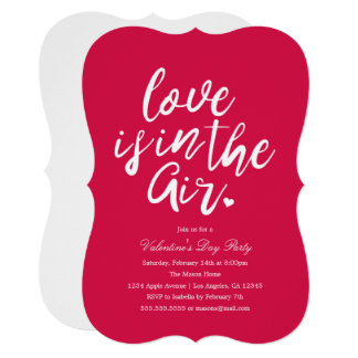 Love Is In The Air   Valentine's Day Party Invite