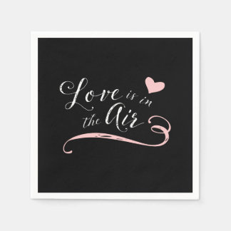 Love is in the Air -  Vintage Chalkboard Style Disposable Napkins