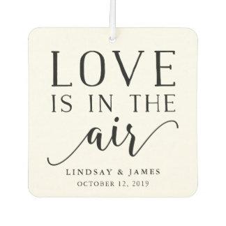 Love is in the Air | Wedding Favor Car Air Freshener