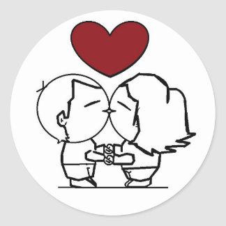 Love IS in to air - the love is in air Classic Round Sticker