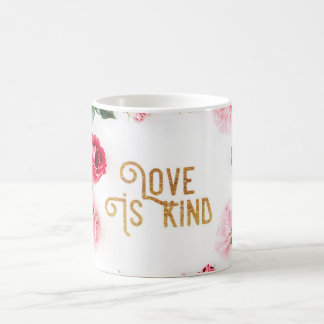 Love is Kind, Pink carnations Coffee Mug