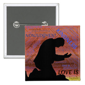 Love Is... Kindness, Humility... Magnet 2 Inch Square Button