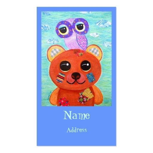 Love Is Like A Handmade Teddy Bear Business Card Templates