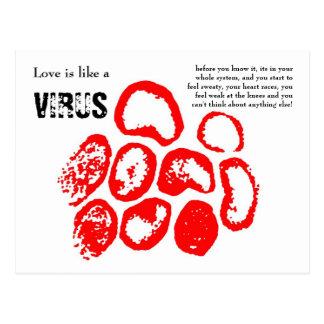 Love is like a VIRUS, Postcard