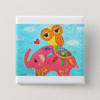 Love Is Like An Elephant 2 Inch Square Button