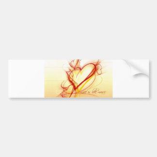 Love Is Like Music Bumper Sticker
