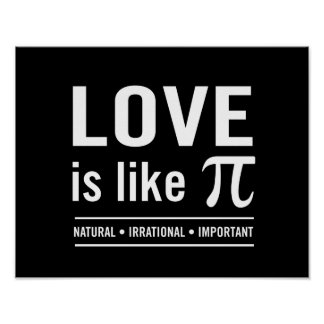 Love Is Like Pi Poster