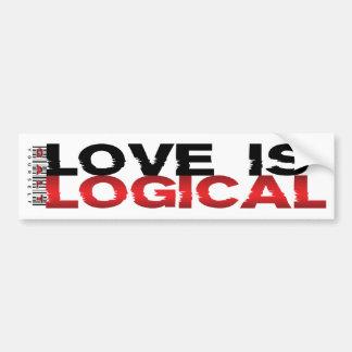 Love Is Logical Bumper Sticker