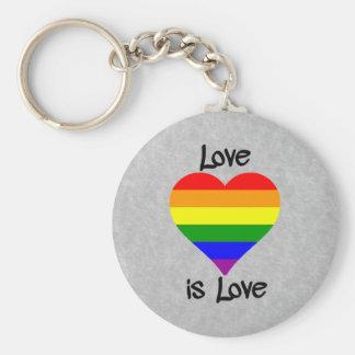 Love Is Love Basic Round Button Keychain