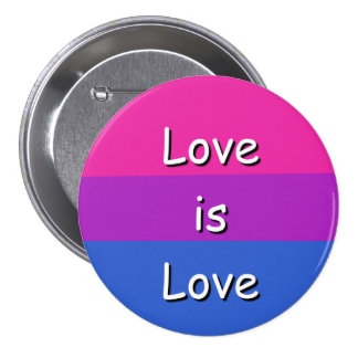 Love is Love Bisexual Awareness Pride Button