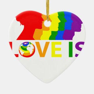 Love Is Love Ceramic Ornament