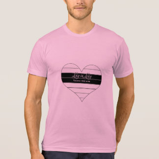 Love is Love Forever and Ever Stripes Heart T-Shirt