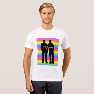 Love is Love, Gay Homosexual Men Holding Hands T-Shirt