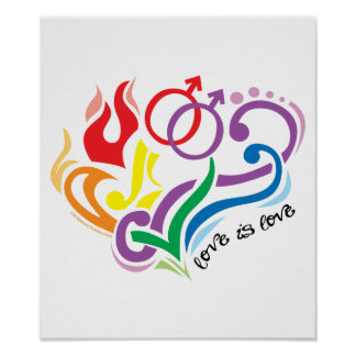 Love Is Love: Gay Poster