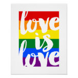 Love is Love Gay Pride Motivational Poster