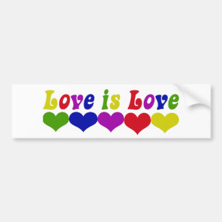 Love is Love Gay Rights Bumper Sticker