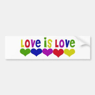 Love is Love Gay Rights Car Bumper Sticker