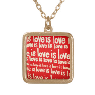 Love is Love Gold Necklace