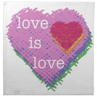 Love is Love Heart Cloth Napkin