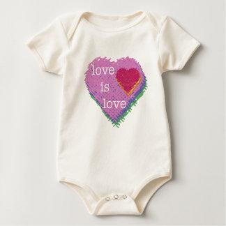 Love is Love Heart for Baby Baby Bodysuit