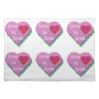 Love is Love Heart Placemats