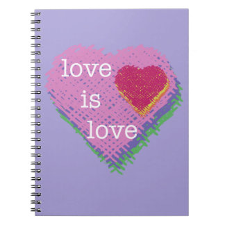 Love is Love Heart Spiral Notebook