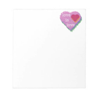 Love is Love Heart Stationery Notepad