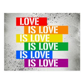 Love is Love is Love - Pride Love - - LGBTQ Rights Postcard