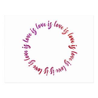 Love is love is love - Watercolor Postcard