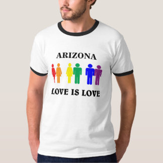 Love is love. LGBT, CUSTOMIZE the state. T Shirt
