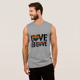 LOVE IS LOVE - LGBTQ PAINT - - LGBTQ Rights -  Sleeveless Shirt