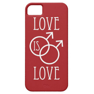 Love is Love (Male) Red Case For The iPhone 5